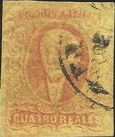 J) 1861 MEXICO, HIDALGO, 4 REALES, MEXICO GOTHIC, NICE MARGINS, MN - Mexico