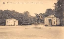 """BRUXELLES - Entrée Du Bois Et Statue """"Les Lutteurs à Cheval"""" Par De Lalaing - Forêts, Parcs, Jardins"""