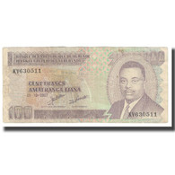 Billet, Burundi, 100 Francs, 2007, 2007-10-01, KM:37D, TTB - Burundi