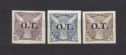 Czechoslovakia 1934 MNH ** Mi 326-328 Sc P14-P16 O.T. Stamps For Business Printed Matter. Tschechoslowakei. C12 - Tschechoslowakei/CSSR