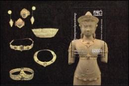 Khmer Culture: Khmer Angkor Era Jewelry Gold Set (347A) (MNH) - Cambodge