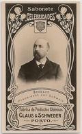 Portugal - Porto - Ernest Brenner President Schweiz Suisse - Claus & Schweder - Brinde Sabonete Celebridades- Circa 1887 - Reclame