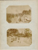2 Photos En Forêt De Fontainebleau (77 - Seine Et Marne) Excursion De L'Union Chrétienne D'Orléans (45) Vers 1905 - Lieux