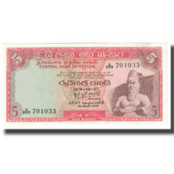 Billet, Ceylon, 5 Rupees, 1974, 1974-08-27, KM:73a, NEUF - Sri Lanka