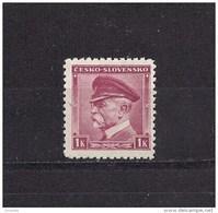 Czechoslovakia 1939 MNH ** Mi 406 (A1 B.u.M.)Sc 256 T.G.Masaryk CESKO - SLOVENSKO. Tschechoslowakei. - Unused Stamps