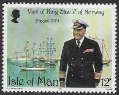 Isle Of Man SG179 1980 Visit Of King Olav V Of Norway 12p Unmounted Mint [40/32384/25D] - Isle Of Man