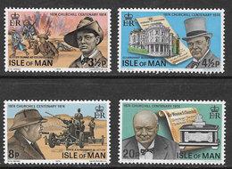 Isle Of Man SG54-57 1974 Birth Centenary Of Sir Winston Churchill Set 4v Complete Unmounted Mint [40/32388/25D] - Isle Of Man