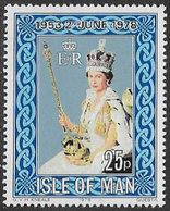 Isle Of Man SG132 1978 25th Anniversary Of Coronation 25p Unmounted Mint [40/32389/25D] - Isle Of Man
