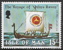 Isle Of Man SG158 1979 Voyage Of Odin's Raven 15p Unmounted Mint [40/32390/25D] - Isle Of Man