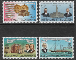 Isle Of Man SG59-62 1975 Manx Pioneers In Cleveland, Ohio Set 4v Complete Unmounted Mint [40/32392/25D] - Isle Of Man