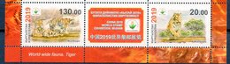 Kyrgyzstan 2019 Fauna Tiger. World Stamp Exhibition China-2019. 2v+label** - Kirgizië