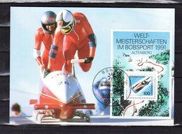 """"""" BOBSLEIGH """" Sur Carte Maximum De 1991. Parfait état. CM - Briefmarken"""