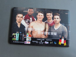 Henkel FC Bayern Munchen Football Team Official Partner, USB Present Card - Phonecards