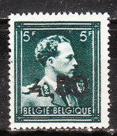 724W**  Leopold III Col Ouvert Surchargé GHISLENGHIEN - Bonne Valeur - MNH** - Vendu à 10% Du COB!!!! - 1946 -10%