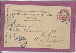 POSTKARTE AUS DEUTSCHLAND BAYERN - Allemagne