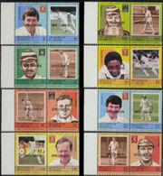 ST.VINCENT GRENADINES 1984 Cricket Ser.I MARG.SPECIMEN S-t SET:8 - St.-Vincent En De Grenadines