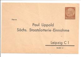3Pf Umschlag Auf Privatbestellung.Sächs.Staatslotterie-Einnahme.Leipzig - Ganzsachen