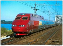 AK Eisenbahn Niederlande Hollands Hollandsch Diep SNCF TGV THALYS 1996 Nederland Rame Tricourant Paris-Amsterdam - Eisenbahnen