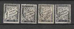 France Timbres Taxe De 1882 N°10 + 15/16 + N°18   Oblitérés - 1859-1955 Afgestempeld
