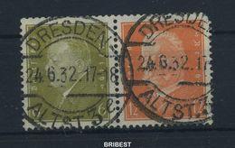 DR 1932 ZD Nr W29 Sauber Gestempelt (89730) - Zusammendrucke
