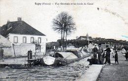 Rogny. Vue Générale Et Bords Du Canal. (Animée, Péniche) - Autres Communes