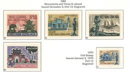 South Viet Nam - 1964 - SC 247 - 250a - Saigon Temple - MNH - Vietnam