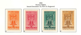 South Viet Nam - 1963 - SC 223 - 226 - Constitution And Scales - MNH - Vietnam