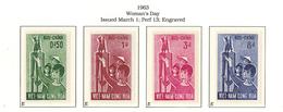 South Viet Nam - 1963 - SC 203 - 206 - Women Day - MH - Viêt-Nam