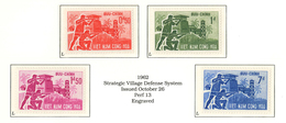 South Viet Nam - 1962 - SC 197 - 200 - Strategic Village - MNH - Viêt-Nam