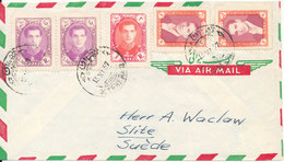 Iran Air Mail Cover Sent To Sweden 13-11-1957 - Iran