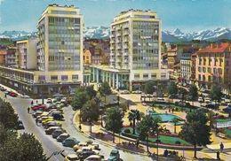Cp , 64 , PAU , La Place Clemenceau Et Le Palais Des Pyrénées - Pau