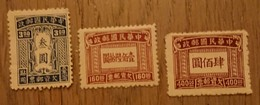 Chine Taxe -  3 Timbres Taxe Neufs Sans Gomme - 1949 - ... Volksrepubliek