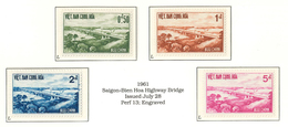 South Viet Nam - 1961 - SC 166 - 169 - Saigon Bienhoa Bridge - MNH - Vietnam