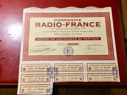 COMPAGNIE   RADIO - FRANCE -----Action De Jouissance - Actions & Titres