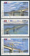 234 - Laos 2000  YT 1388-90 ; Mi# 1721-23 **  MNH  Construction Of A Mekong Bridge Near Pakse - Laos