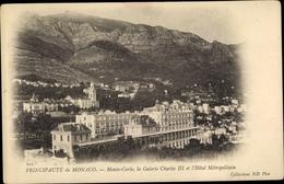 Cp Monte Carlo Monaco, Galerie Charles III, L'Hotel Metropolitain - Monaco