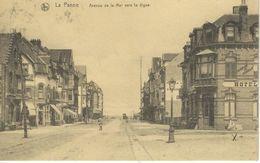 LA PANNE : Avenue De La Mer Vers La Digue - Cachet De La Poste 1923 - De Panne