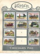 Images Chocolat Kohler. 18 Locomotion - Chiens Et Chats.. Séries 3 Et 4.. Collées Sur Feuille Album.  Envoi 1,72 €. - Autres