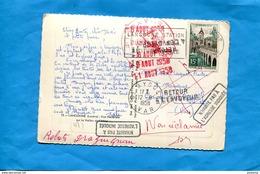 """Marcophilie+carte Postale*-Langogne-cad 1958-N P A I """"retour-+REBUTS -DRAGUIGNAN - Marcophilie (Lettres)"""