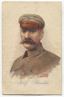 JOZEF PILSUDSKI - Marshal Of Poland, K.u.K. Feldpost 1917. Censura, Art PC Bogdan Hoff, Traveled To Croatia - Pologne