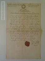 KA401.14 Old Document  Jannowitz Riesengebirge Janowice  Poland - Johann Nepomuk Matiak Ca 1845 - Birth & Baptism