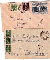ITALIA Storia  Postale  Regno   Lotto 2 Buste  Una  Viaggiata X  La Svizzera - 1900-44 Vittorio Emanuele III