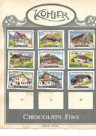 Images Chocolat Kohler. 9 Habitations Suisses Actuelles. Collées Sur Feuille Album.  Envoi 1,72 €. - Autres