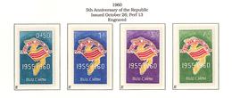 South Viet Nam - 1960 - SC 146 - 149 - Map Flag 5th Anniv The Republic - MNH - Vietnam