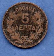 Grèce  -  5 Lepta 1878 K   -  Km # 54   --  état B+ - Grèce