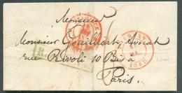 LAC Dfe TOURNAY 11 Mai 1848 + Griffe Verte R.FRONT Vers Paris - TB - 13979 - Libië
