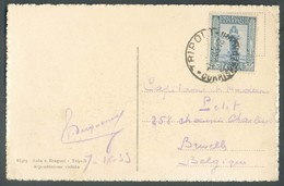 CV Affr. 25 Cent. Obl.L Sc TRIPOLI 7-IX-1933 Vers Bruxelles - TB - 13993 - Libya
