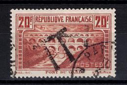 OBLITERATION T De TAXE Sur TIMBRE PONT DU GARD N° 262 OBLITÉRÉ TB CAD PARIS - Gebruikt