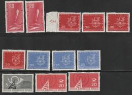 DDR 1958 Michel Nr.n 616 X2, 618 X4, 619 X3, 620, 621 X2, Alle Postfrisch - [6] Democratic Republic