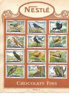 Images Chocolat Nestlé. 19 Oiseaux - Champigons. Collées Sur Feuille Album.  Envoi 1,72 €. - Autres